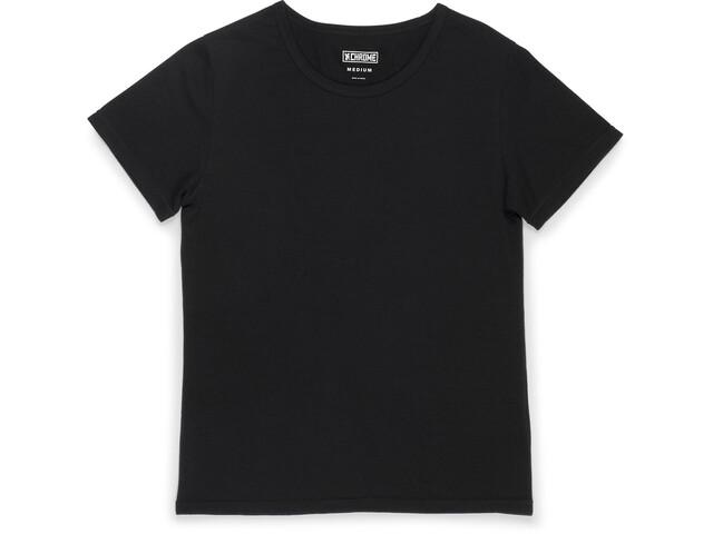 Chrome Merino T-shirt Femme, black